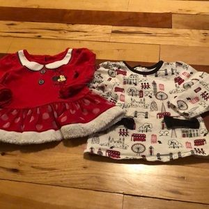 2 long sleeved 12-18 month shirts
